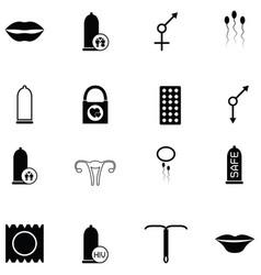 Safe sex icon set vector