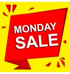 Sale poster with MONDAY SALE text Advertising vector