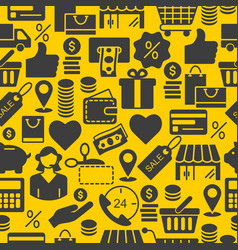 seamless pattern with e-shop icons vector image