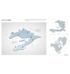 Set haiti country isometric 3d map haiti map vector