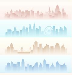 set horizontal banners landscapes urban modern vector image