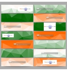 Set of modern banners Background for Happy Indian vector image
