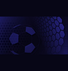 soccer background in blue colors vector image