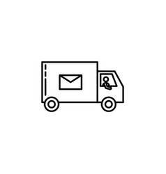 truck courier signs and symbols can be used for vector image