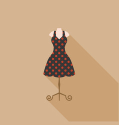 vintage dress in mannequin vector image