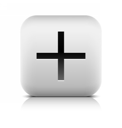 Web icon with plus sign vector