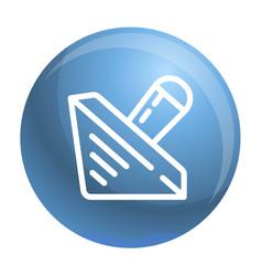 Wood dreidel icon outline style vector