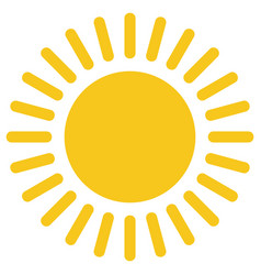 yellow gold sun icon isolated on background moder vector image