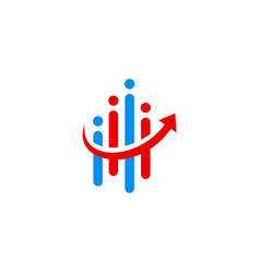 information technology business finance arrow logo vector image