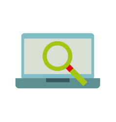 laptop technology virtual magnifier discount sale vector image vector image