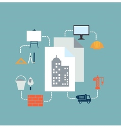 architect drawings vector image vector image