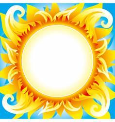 fiery sun vector image vector image