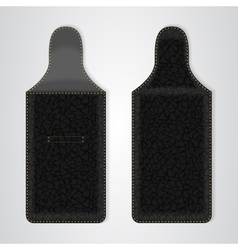 Black Leather Case for the phone in two ways vector image