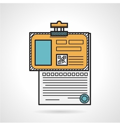 Flat icon for patient paper vector image vector image