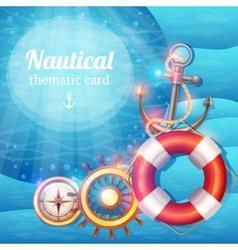 Marine Symbols Background vector image vector image