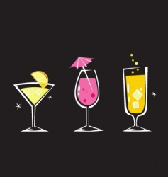 retro drinks collection vector image vector image