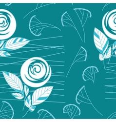 seamless vintage rose pattern background vector image vector image