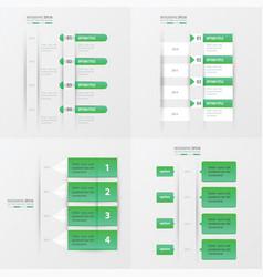 timeline design 4 item green gradient color vector image vector image