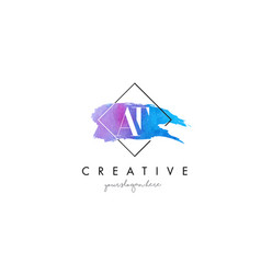 at artistic watercolor letter brush logo vector image vector image