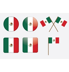 badges with flag of Mexico vector image vector image