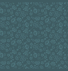 blue flower seamless pattern background vector image
