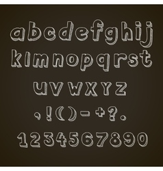 Hand drawn font retro alphabet letters vector image vector image