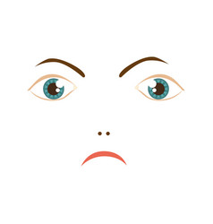 Human woman expression angry face vector