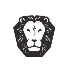 lion logo animal wildlife symbol or icon vector image vector image