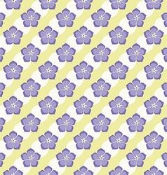 Seamless Flowers Pattern Summer Background Froral vector image vector image