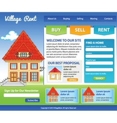 Template for real estate vector image vector image