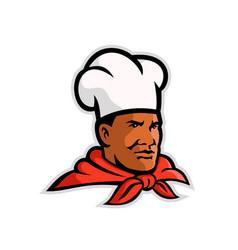 african american chef baker mascot vector image