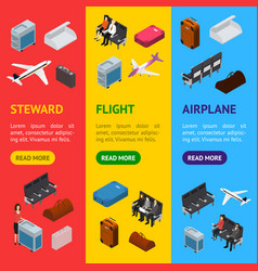 airplane interior elements with people banner vector image