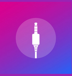 audio cable jack connector icon vector image
