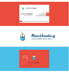 beautiful mouse logo and business card vertical vector image