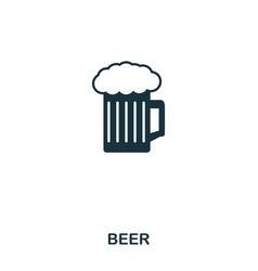 beer icon line style icon design ui vector image