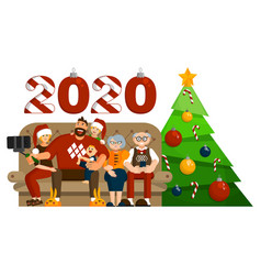 big family celebration christmas or new year vector image