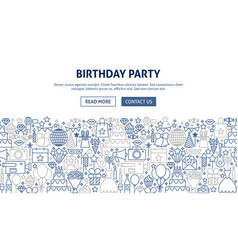 birthday party banner design vector image