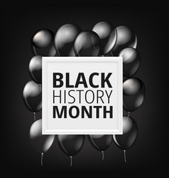 black history month concept with balloons vector image