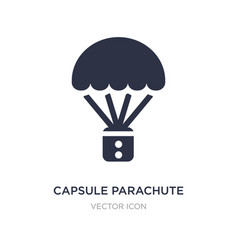 Capsule parachute icon on white background simple vector