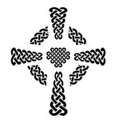 celtic style knotted cross with eternity knots vector image