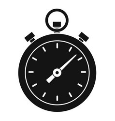 chronometer icon simple style vector image