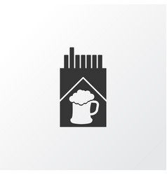cigarette icon symbol premium quality isolated vector image