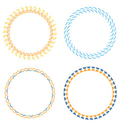 circle template badge vector image
