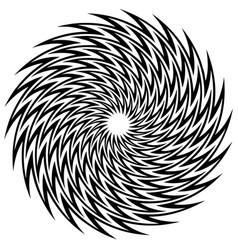 Circular geometric motif abstract mandala vector