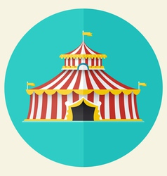 Classical circus tent icon design vector