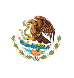 Coat of arms of Mexico vector