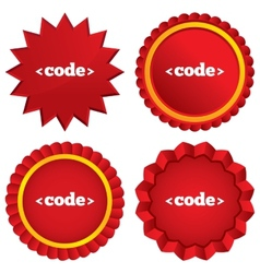 Code sign icon Programming language symbol vector image