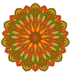 colored ethnic ancient ornament mandala isolated vector image