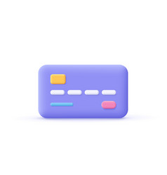 Credit card icon business payment finance vector