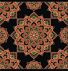 Dark pattern of mandalas vector
